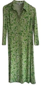 Diane von Furstenberg short dress Green Silk Leaf Print Midi on Tradesy