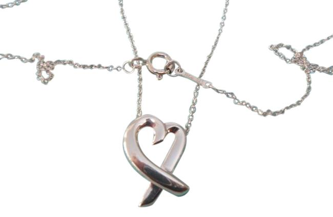 """Tiffany & Co. Silver Sterling Paloma Picasso Medium Loving Heart 16"""" Necklace Tiffany & Co. Silver Sterling Paloma Picasso Medium Loving Heart 16"""" Necklace Image 1"""