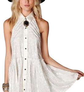 Free People short dress ivory silver on Tradesy