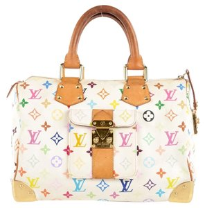 Louis Vuitton Lv Speedy 30 Murakami Speedy 30 Monogram Neverfull Lv M92643 Satchel in Multicolor