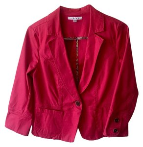CAbi Fun Pop Of Color Quality Coral Blazer