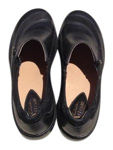 Clarks Leather Black Athletic