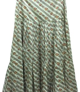 Les Copains Skirt White with floral print