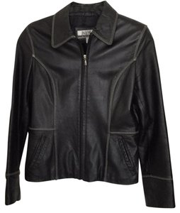 Nine & Co. Black leather Blazer