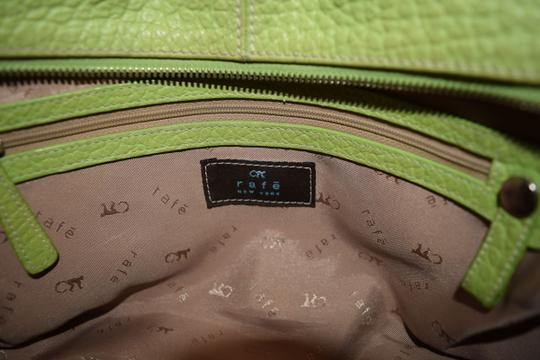 Rafe Pebbled Leather Large Purse Handbag Leather New York Color Silver Spring Roomy Satchel in Chartreuse Green