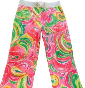 Lilly Pulitzer Relaxed Pants Pink, Green