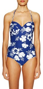 Oscar de la Renta One Piece Printed Sweetheart Swimsuit