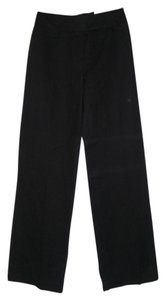 Ann Taylor LOFT Lined Linen Full-leg Wide Leg Pants black