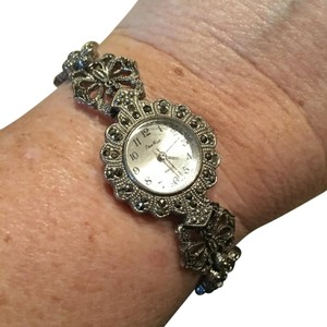 Blue Nile Marcasite And Onyx Rhinestone Watch