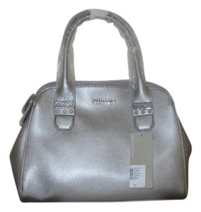 Kenneth Cole Reaction Metallic Faux Leather Satchel in Silver