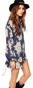 Free People short dress Printed Long Sleeve Mini on Tradesy