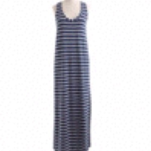 Heather Blue and White Maxi Dress by J.Crew