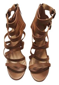 JustFab Cognac Sandals