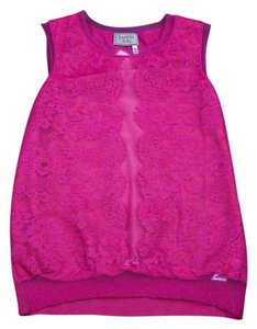 Lanvin Fuchsia Knit Top Purple