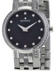 Movado Faceto Stainless Steel Diamond Watch