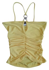 Georgiou Studio Studio Crop Summer Yellow Halter Top