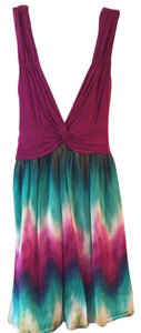 Forever 21 short dress Purple with TieDye on Tradesy