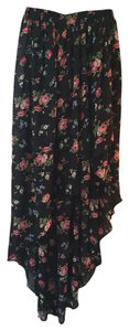 American Rag Maxi Skirt Black with Roses