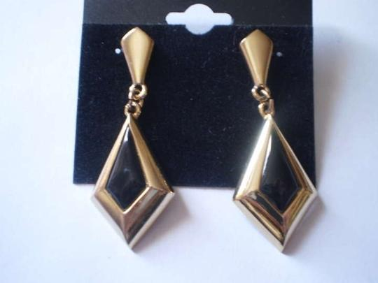 Other Like new Goldtone & black earrings