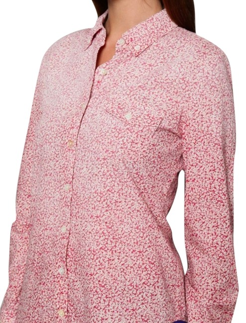 Equipment Button Down Shirt Top Pink Floral
