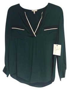 Joie silk blouse Top Green