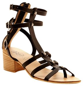 modern rebel Gladiator 7.5 Genuine Leather black Sandals