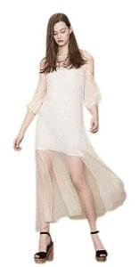 Ecru Maxi Dress by Maje Wedding Sheer Maxi Silk