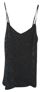 Express Top Black w/ silver sequins