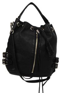 Rebecca Minkoff Rm Leather Silver Hardware Satchel in Black