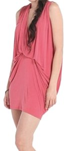 Riller & Fount short dress Coral Drape Jersey Easy Loose on Tradesy