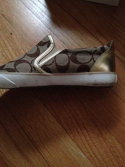 Coach Signature Monogram Sneakers Khaki/Gold Athletic