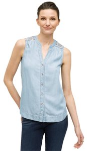 Anthropologie Chambray Scoop Top demin