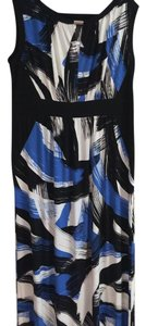 Black, White and Blue Maxi Dress by Suite 7