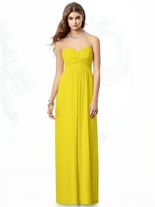 After Six Citrus Yellow Chiffon 6694 Feminine Bridesmaid/Mob Dress Size 16 (XL, Plus 0x)