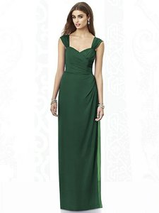 After Six Hampton Green Chiffon 6693 Feminine Bridesmaid/Mob Dress Size 10 (M)