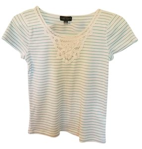 Lauren Jeans Company Top White/green