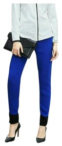 Banana Republic Color-block 14s Straight Pants blue & black