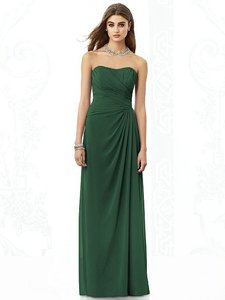 After Six Hampton Green Chiffon 6690 Modern Bridesmaid/Mob Dress Size 10 (M)