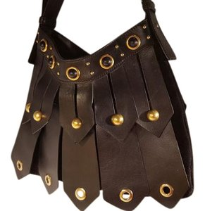 Saint Laurent Leather Studded Shoulder Bag