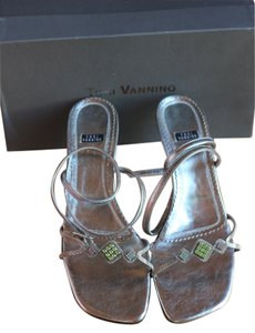 Tosi Vannino Silver with Amazing Stone work Sandals