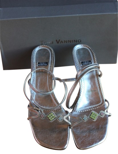Preload https://item1.tradesy.com/images/silver-with-amazing-stone-work-made-in-italy-sandals-size-us-10-regular-m-b-1617990-0-0.jpg?width=440&height=440