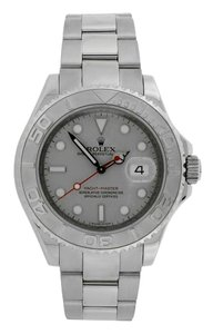 Rolex Rolex Oyster Perpetual Yacht-Master with Platinum Bezel and Dial on Stainless Steel Oyster Bracelet