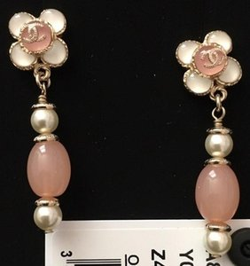 Chanel Cruise Collection Limited Iconic CC Flower Gold Drop Earrings