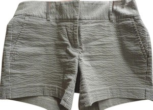 Ann Taylor Mini/Short Shorts Blue and White