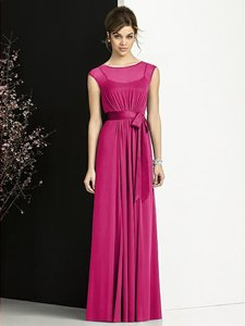 After Six Tutti Frutti Pink Chiffon 6676 Modern Bridesmaid/Mob Dress Size 12 (L)