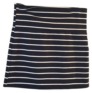Rue 21 Mini Skirt Black n White Stripes