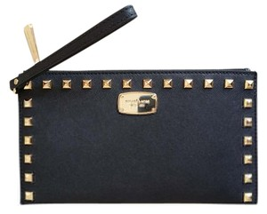 Michael Kors Studded Zip Clutch Wristlet in Black