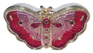 Judith Leiber Leiber Minaudiere Butterfly Crystal Swarovski Crystal mulit Clutch