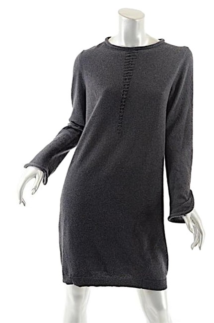 Lamberto Losani Grey Charcoal Cashmere Roll Neck Sweater Fab - M -nwt Knee Length Short Casual Dress Size 8 (M) Lamberto Losani Grey Charcoal Cashmere Roll Neck Sweater Fab - M -nwt Knee Length Short Casual Dress Size 8 (M) Image 1