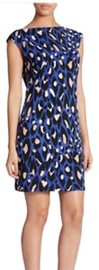Trina Turk short dress Black, blue, white on Tradesy